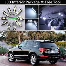 17PCS Error Free White LED Interior Lights Package kit Fit 2008-2013 Audi Q5 J1