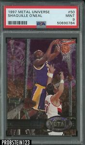 1997 Metal Universe #50 Shaquille O'Neal Lakers HOF PSA 9 MINT