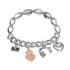 Nwt Juicy Couture Charm Stretch Bracelet GIFT Camera Crown/Heart Pink Headphones