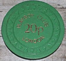 20 p GAMING CHIP FROM THE PLAYBOY CASINO LONDON ENGLAND VERY VERY RARE