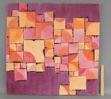 LARGE 1970s Vintage  FREDERIC M FAILLACE Geometric Abstract Acrylic Painting