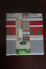 """NEW """"Through the Woods"""" Fabric Shower Curtain Christmas Winter Holiday"""