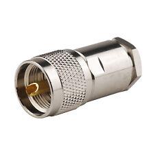 5x Uhf Pl259 Male Plug Rf connector Clamp for Lmr400 Rg8 Rg165 Rg213 Rg214 cable