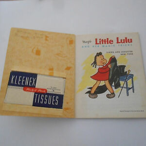 LITTLE LULU & HER MAGIC TRICKS with tissues in box LITTLE GOLDEN BOOK 1st1954