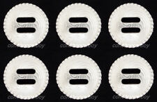"""Set of 6 WESTERN HORSE TACK BRIGHT SILVER ROUND ROPE EDGE SLOTTED CONCHOS 1 1/2"""""""