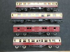 OO Scale TRI-ANG Maroon and Cream Railcars . . . a lot of 4