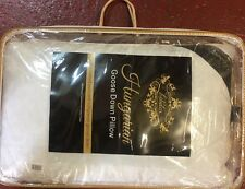 Luxury 100 Pure Hungarian Goose Down Pillow in 300 Thread Count Cotton Casing