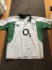 New listing Vintage Ireland Canterbury Rugby Jersey O2 Green, White Men's Large Irish 🏉