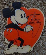 Vintage 1936 Mickey Mouse Valentine *VERY RARE* Hallmark Cards - Disney
