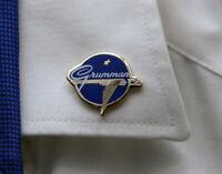 Pin GRUMMAN AIRCRAFT metal logo pin blue/gold