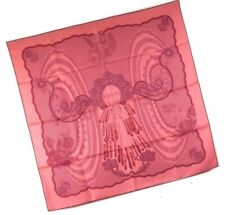 Hermes Scarf Stole Doigts de fee by Cathy Latham Pink Woman Silk New Carre 90
