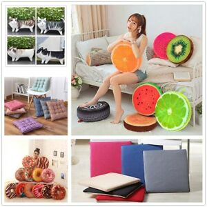 3D Cushion Seat Pad Chair Dining Garden Office Plush Pillow Outdoor Home Decor N