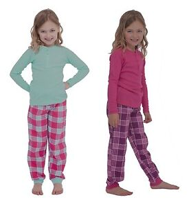 Girls Cotton Rich Pyjama / PJ Set with Long Sleeve Top