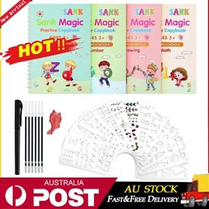 Magic Handwriting Copybook Reused Groove Practice Calligraphy Books for Kid AU