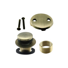 Antique Brass Touch Toe Bath Tub Drain Conversion Kit, M88662
