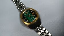 Vintage ORIENT Watch Automatic 21 Jewels Water Resistant Green Dial Watch Girls