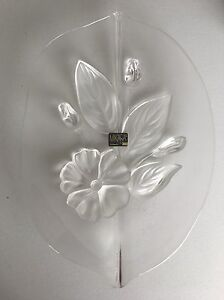 Mikasa Original Walther-glass Floral Pattern Oval Platter Made In Germany #127