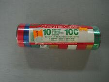 Vintage Berwick Christmas Curling Ribbons 10 Reels 120 Ft Variety Pack
