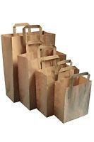 PAPER CARRIER BAGS WHITE BROWN KRAFT SOS TAKEAWAY PARTY RETAIL FOOD