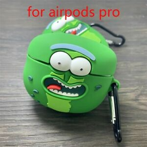 Rick And Morty Pickle Rick Airpods Pro Protective Cover Case Silicone With Hook