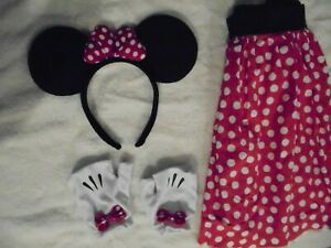 Minnie Mouse Adult Costume- Ears /Gloves/Skirt