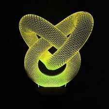 Astratto USB illusione LED ANABBAGLIANTI 3D Interruttore Touch Acrilico Lampada da tavolo 7-colore