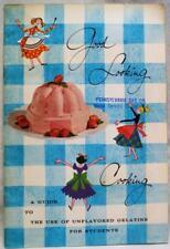 KNOX GELATIN GOOD LOOKING COOKING ADVERTISING RECIPES BROCHURE 1959 VINTAGE