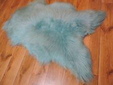 Real Premium Iceland Sheepskin Sheepskin Lambskin fur Top Tanned Turquoise 100cm