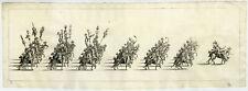 Rare Antique Print-6-PROCESSION-CARNIVAL-TRUMPET-TIMPANI-HORSES-Klotzel-1696
