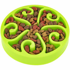 Slow Feeding Bowl For Pets           Green