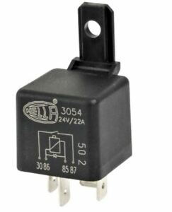 Hella 24 Volt  22 Amp 4 Pin 3054 Normally Open Mini Relay with Diode 905-330-241
