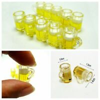 10pc Miniature Kitchen Dolls House Beer Glass Food Drink Cups Mug Bar Decor 1:12