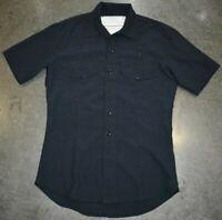 Transcon Manufacturing Flame Resistant Nomex Mens Button Down Shirt Blue Size XL