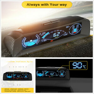 Car Inclinometer Smart Slope Meter Compass Head Up Display HUD OBD Speedometer
