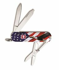 Victorinox Swiss Army Keychain Knife Classic Ltd Ed - US Flag & Bald Eagle