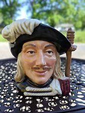"Vintage Royal Doulton Character Jug Aramis Three Musketeers Toby Jug D6454 4"""
