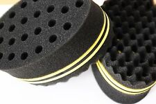 Double Barber Hair Brush Sponge For Dreads Locking Twist Coil Afro Curl Wave