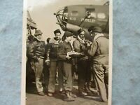 WWII AAF Photo Post Card B17 Crew Plane Red Cross Clubmobile Volunteers WW2