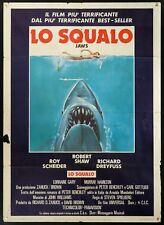 LO SQUALO Jaws STEVEN SPIELBERG THRILLER, MANIFESTO POSTER 1A EDIZIONE 1975!!