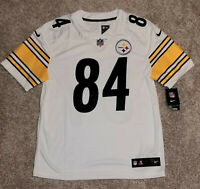 """PITTSBURGH STEELERS Antonio Brown """"White"""" Nike OnField Limited Jersey PICK SIZE!"""