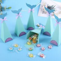 10/50Pcs Cute Mermaid Tail Candy Boxes Hawaii Theme Party Gift Bag Kids Favors