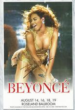 Beyonce autographed gig poster