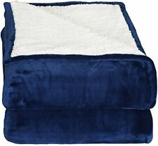 Fleece reversible blankets Sherpa Flannel Extra Soft Brush Fabric