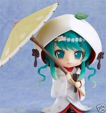"Nendoroid #303 HATSUNE SNOW MIKU Strawberry White Kimono Ver 4"" Anime Figure Toy"