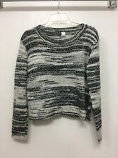 Women's H&M Knit Sweater/Jumper Grey Black Size S Small