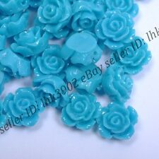 20 Pcs Gorgeous Blue Rose Flower Coral Spacer Beads 10MM