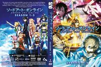 Sword Art Online (Season 1 2 3 - Alicization ) ~ 6-DVD ~ English Dubbed Version