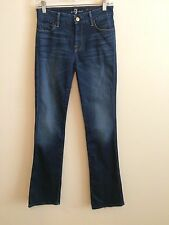 2147) 7 FOR ALL MANKIND sz 25 The Skinny Bootcut high waist denim stretch jeans