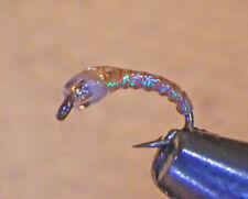 Mercury Miracle Midge & Pearl #20 Fly Fishing Flies Trout Flies Wet SP