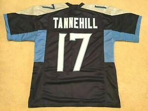 UNSIGNED CUSTOM Sewn Stitched Ryan Tannehill Blue Jersey - M, L, XL, 2XL
